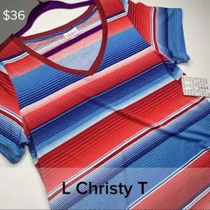 L Christy - red white and blue stripe